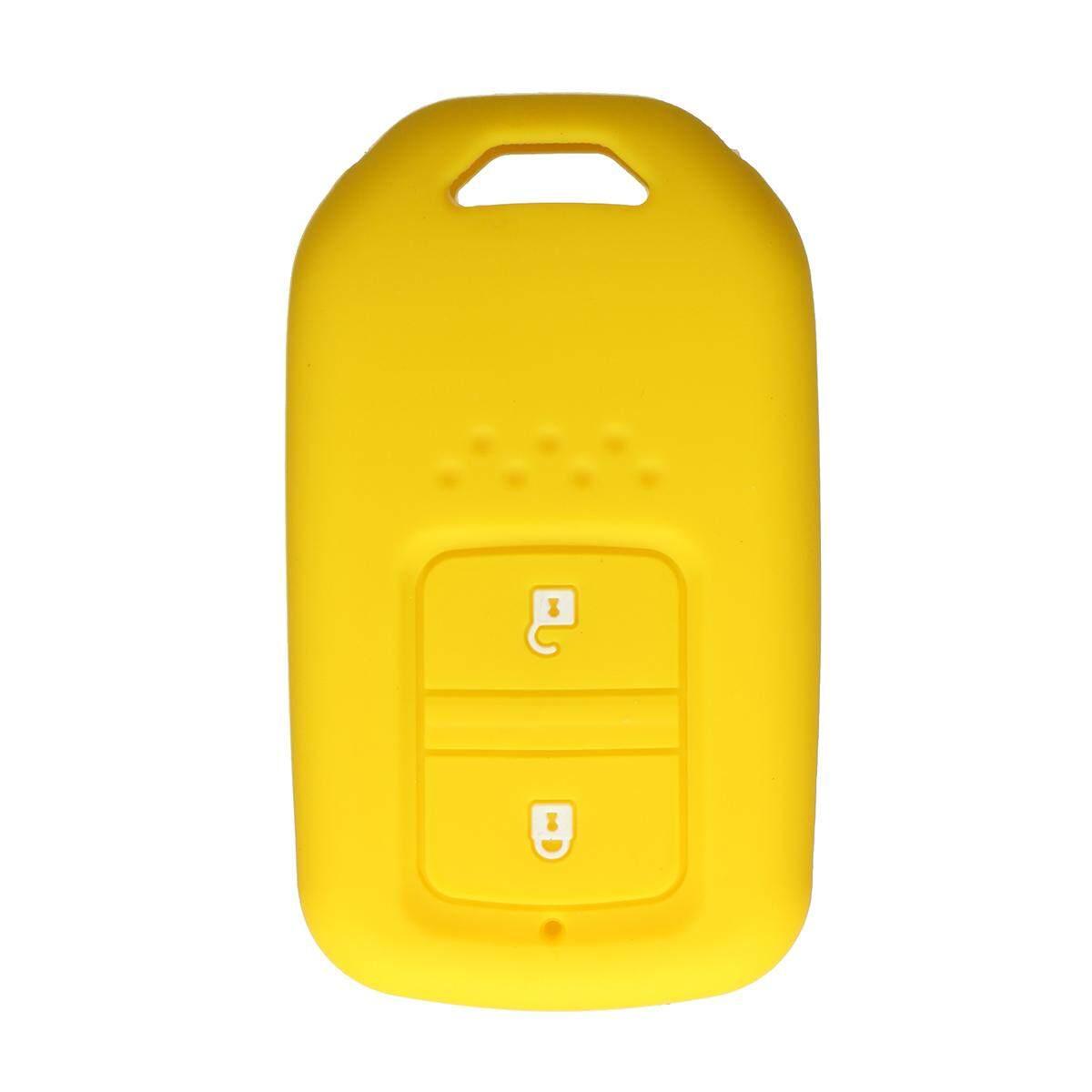 Rp 50000 2 Tombol Pintar Silikon Sarung Kunci Fob Kulit Cocok Untuk Honda Giok VEZEL HRV Crider Kuning InternasionalIDR50000