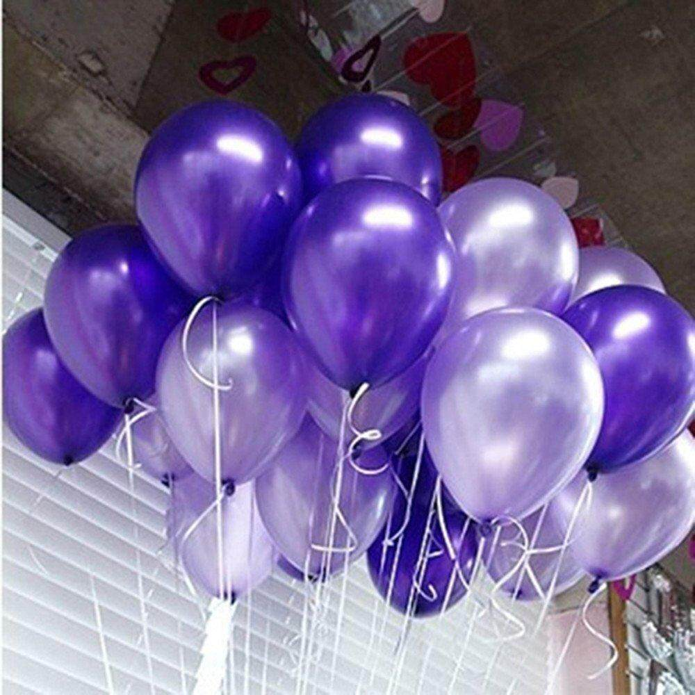 100pcs Pearlized Purple & Light Purple Mixed-color Balloon 10