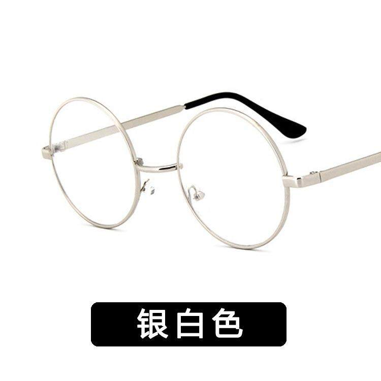 Classic Retro big frame round glasses frame metal Korean version frame mirror flat mirror tide frame