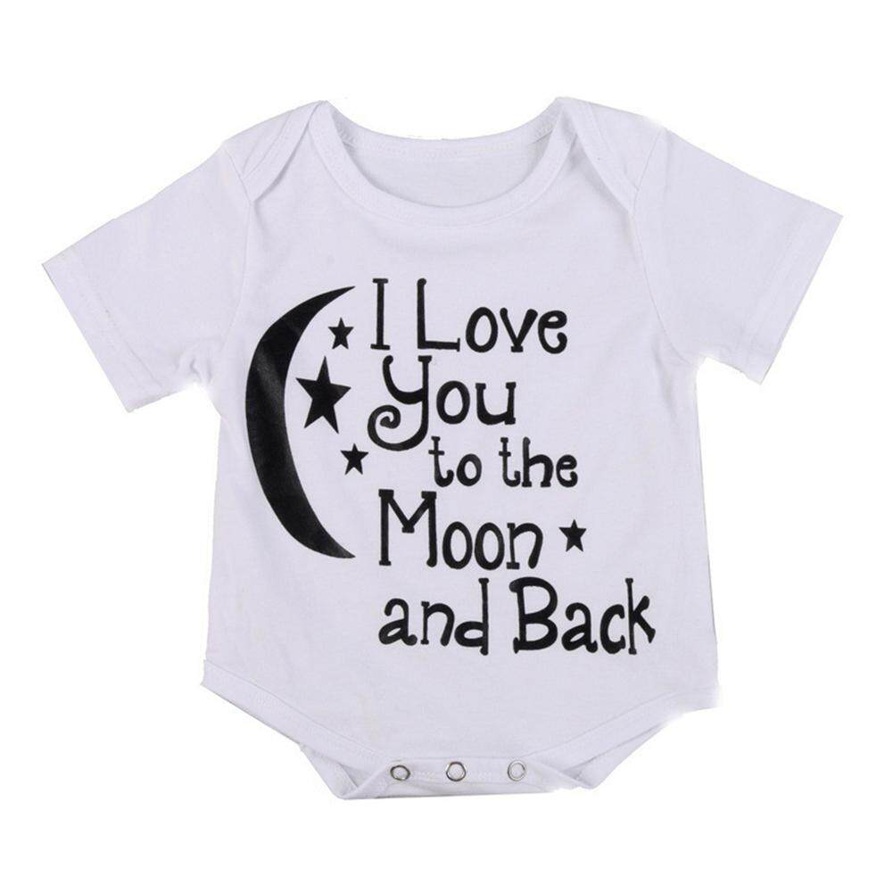 Rd Baby Unisex Short Sleeve Star Moon Pattern Jumpsuit Soft Cotton Rompers Summer Clothes By Redcolourful.