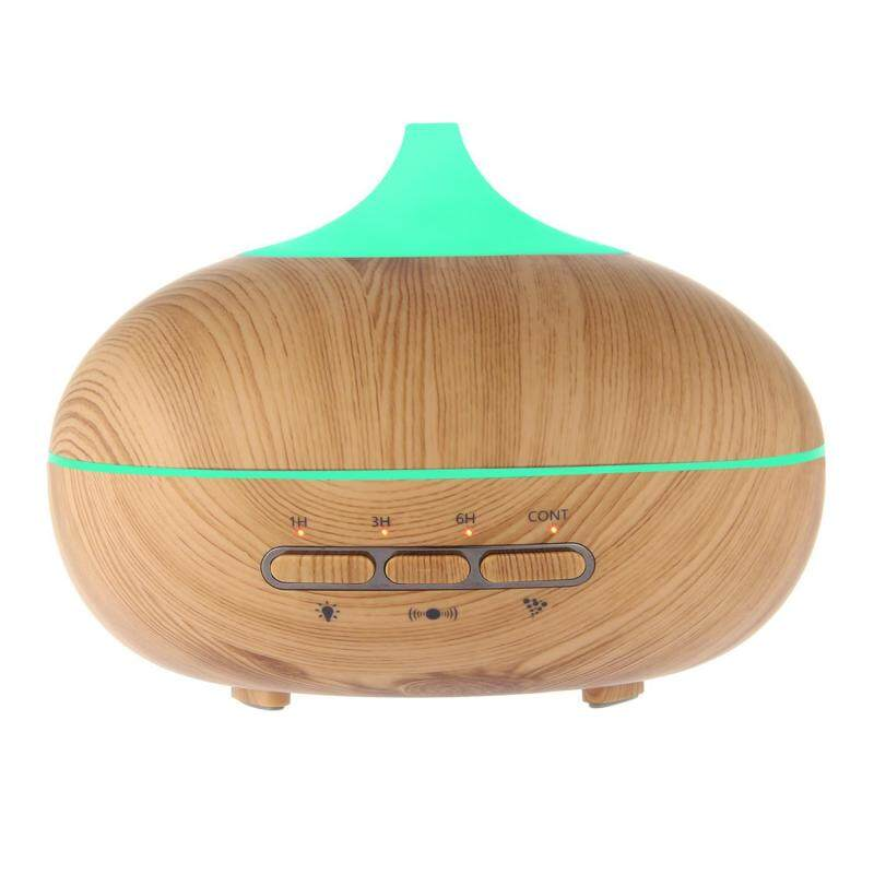 qoovan 300ml Mini Wooden Humidifier Essential Oil Diffuser, Pawaca Humidifier With 7 Color Lights For Home And Office(uk Plug) Singapore
