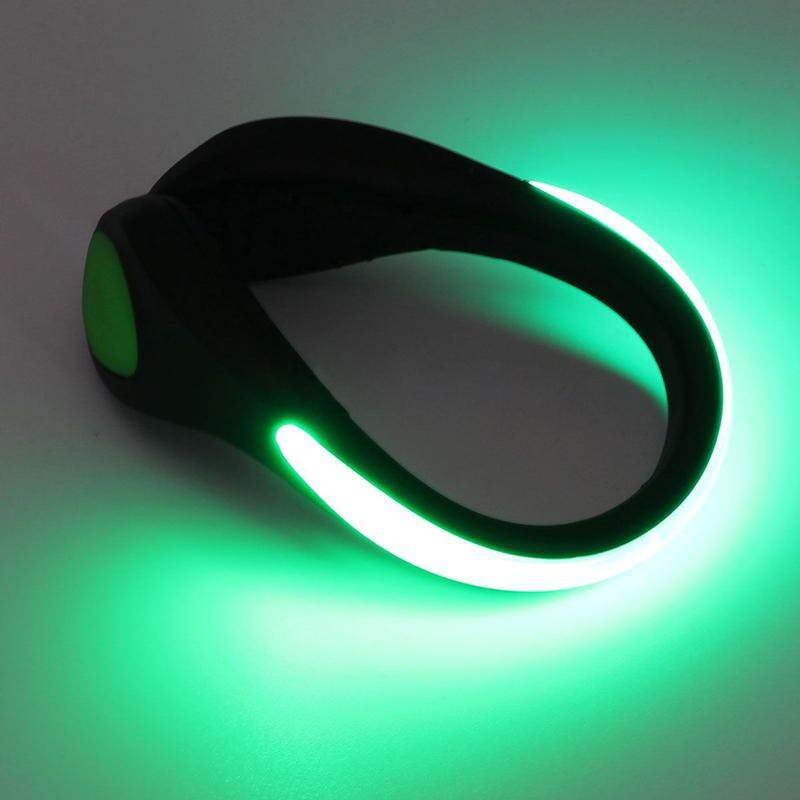 Hình ảnh Acelit Luminous Shoes Clip Night Safety Shoe Light Safety Warning Reflector Flashing Lights Bike Cycling Jogging Outdoor Sports