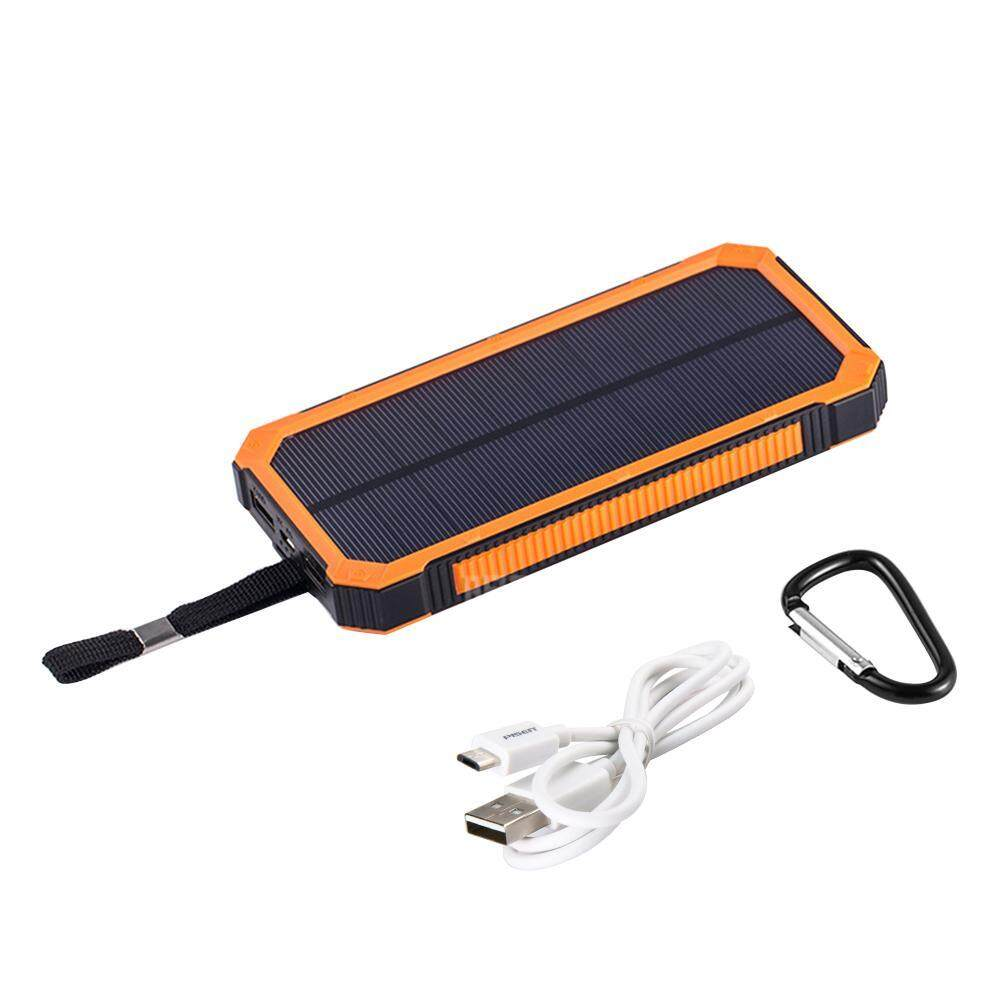 Teekeer 15000mAh Solar Power Bank Charger, Kobwa Solar LED Flashlight Portable Backup Solar Power Pack Charger, Dual USB Port Solar Battery Charger For Smart Phones And Other USB Devices