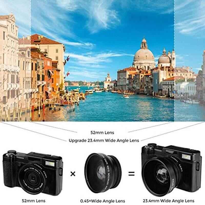 Vigo CDR2 CD-R2 Kamera Digital 24MP 1080 P 4X Zoom Digital Kamera-Internasional