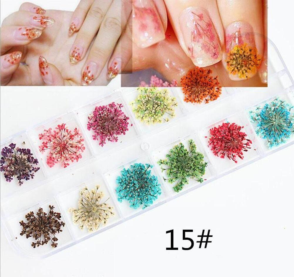 Seni Kuku Cantik Stiker 3D Manikur Menawan Paillette Laser Gadis Makeup Decal DIY Tips Dekorasi, (Pola: #15) -Intl