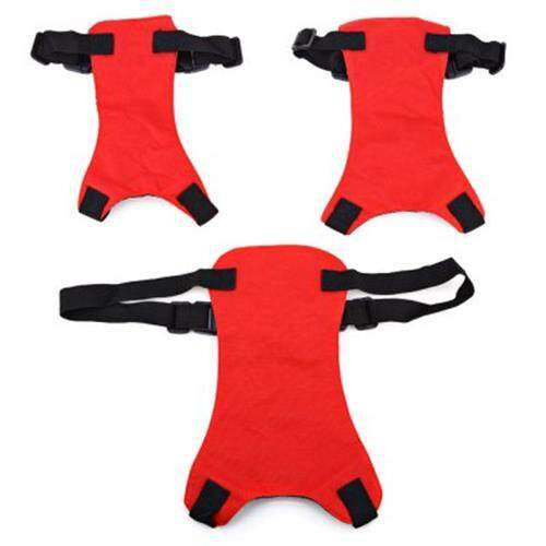 PET VEHICLE SAFETY SEAT BELT ADJUSTABLE DOG LEASH COLLAR CHEST HARNESS (RED)