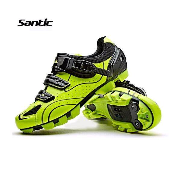 Santic MTB Mountain Cycling Bike Shoes Auto-lock Bicycle Shoes For Shimano SPD Eggbeater System Shoes 3 Colors - intl