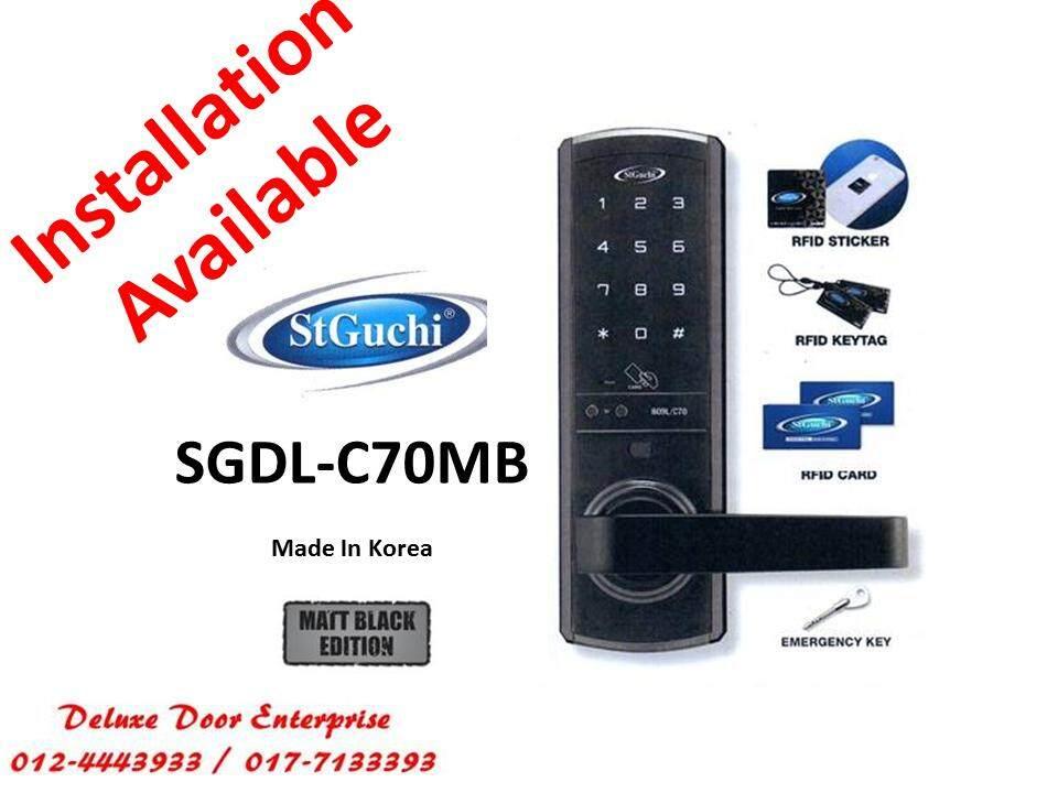 Review St Guchi Smart Digital Door Lock C70mb Free Samsung