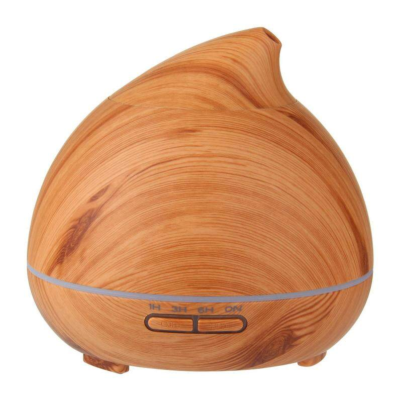 binwu (UKplug)300ml Wood Grain Aromatherapy Essential Oil Diffuser Super Quiet Auto Shut-off Cool Mist Ultrasonic Aroma Air Purifier Humidifier With 7 Color Changing LED Lights (UK PLUG) Singapore