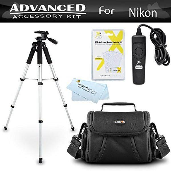 Tripod Bundle Kit For Nikon D7200, Df, D750, D5500, D5300, D3300, D5200, D3200, D5100 D7100 D600 D610 D800 D810 Digital SLR Camera Includes 57 Inch Tripod + Remote Shutter Release + Carrying Case ++ - intl