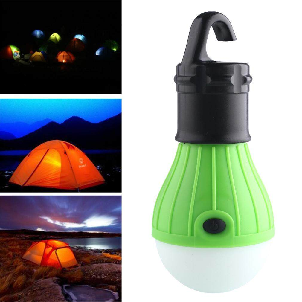 GETEK 3 LED Ultra Bright Outdoor Handle Camping Lamp Tent Light Bulb With Lamp Hook