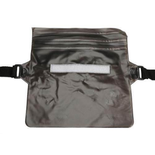 Waterproof PVC Waist Bag Pouch with Adjustable Belt (BLACK)