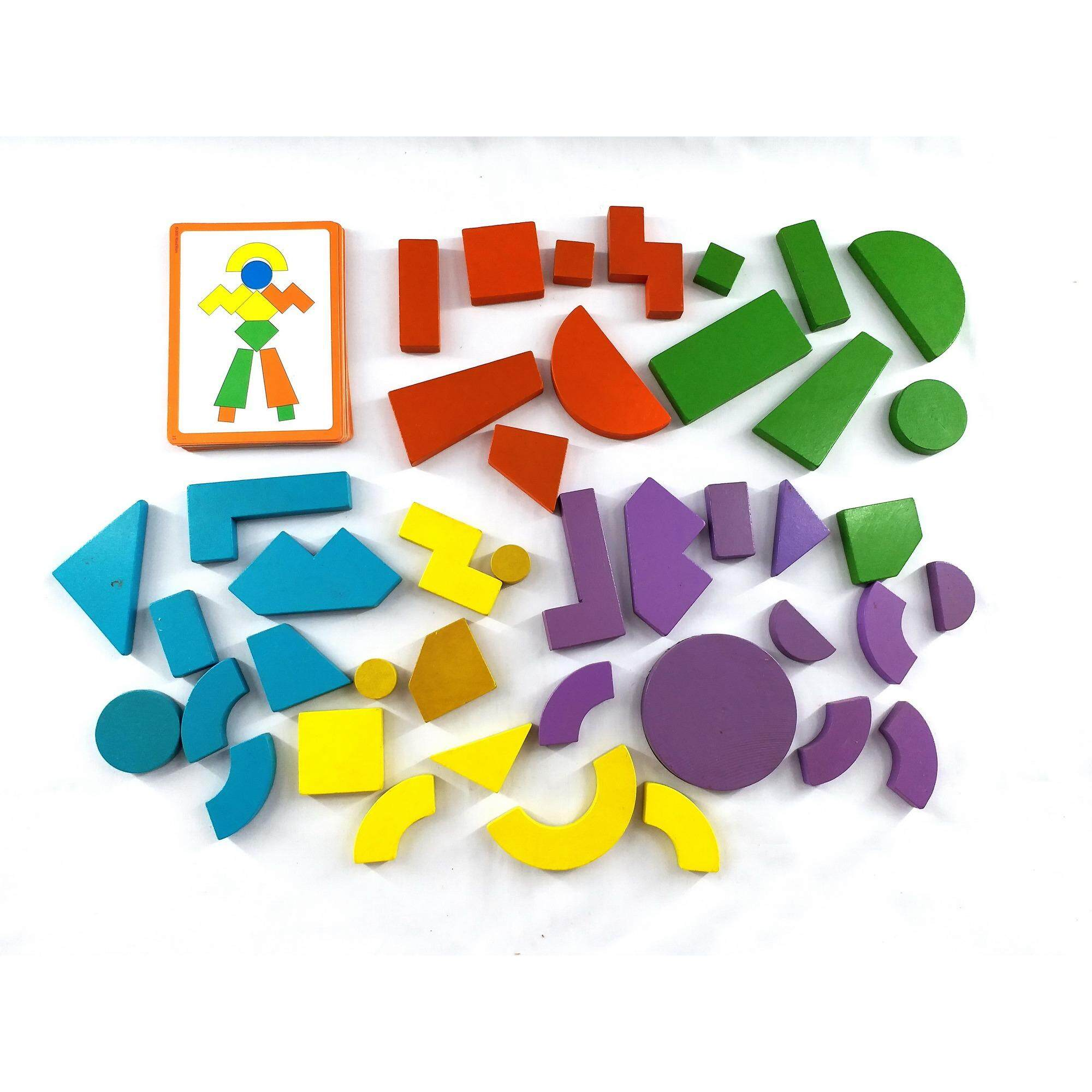 MDL-9986 42S MAGNETIC WOODEN WELL-CRAFTED BLOCKS x 1set Toys for boys