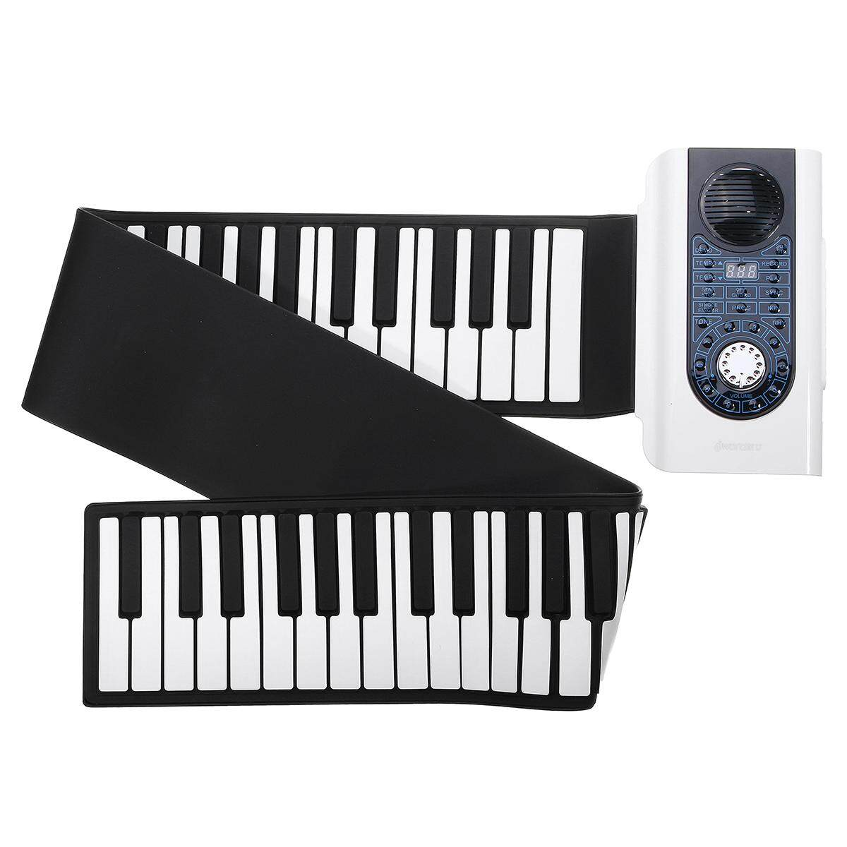 iWord 88 Key Professional Roll Up Piano Portable Travel With MIDI Keyboard  White - intl