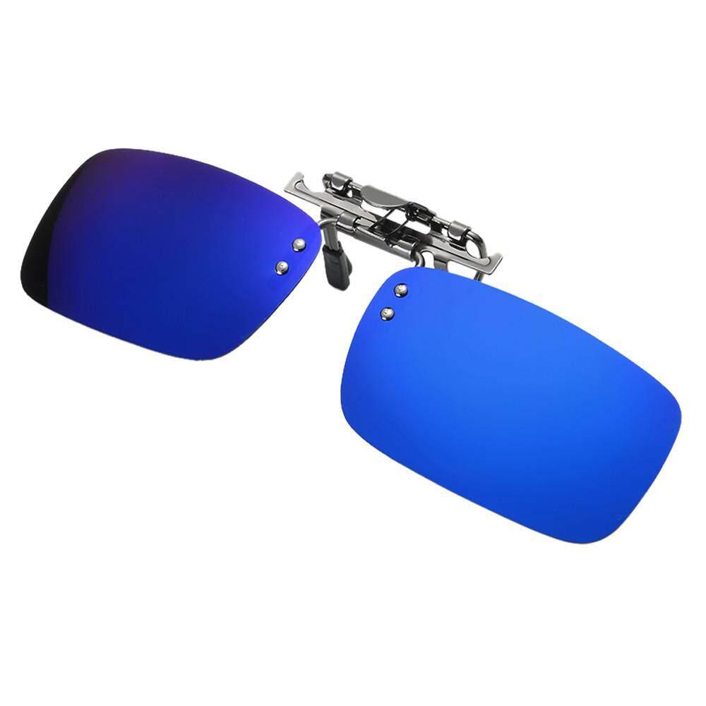 Dapat Dilepas Malam Vision Lensa Mengemudi Logam Terpolarisasi Klip On Kacamata Hitam-