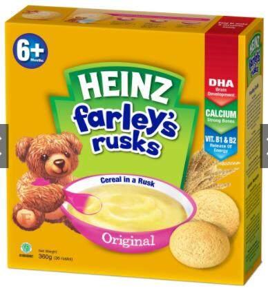Heinz Farley\'s Rusks Cereal In A Rusk (6 Months) 360g Original