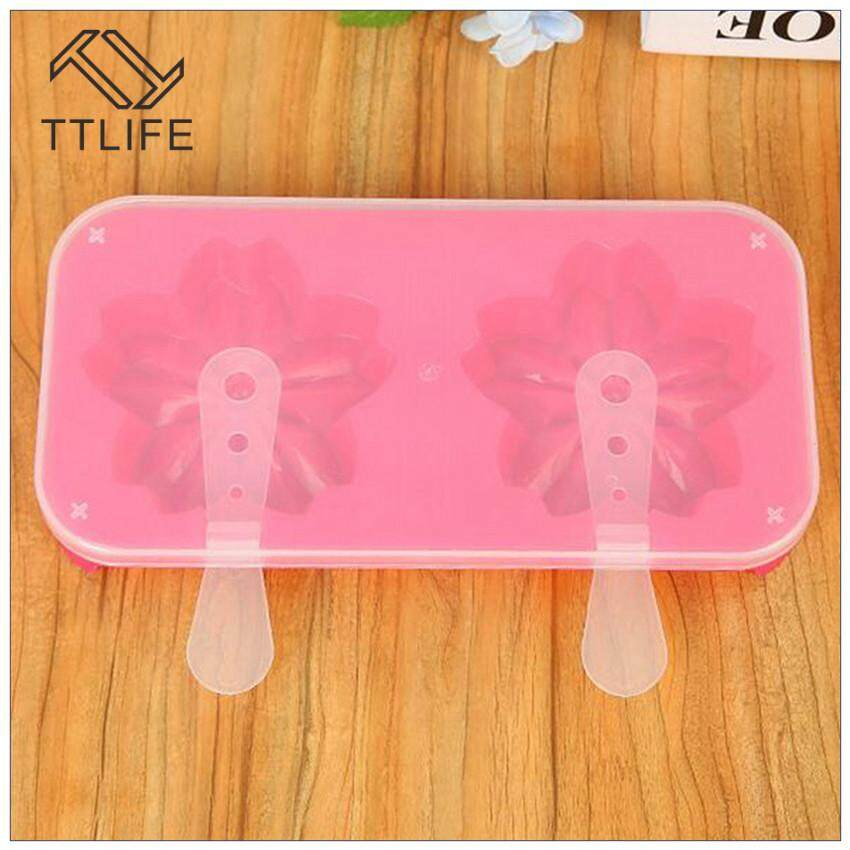 TTLIFE 2018 New Arrival DIY Homemade Ice Popsicle Ice Cream Plastic Molds Creative Environmental Bears Cherry Ice Shape Ice Cream Molds