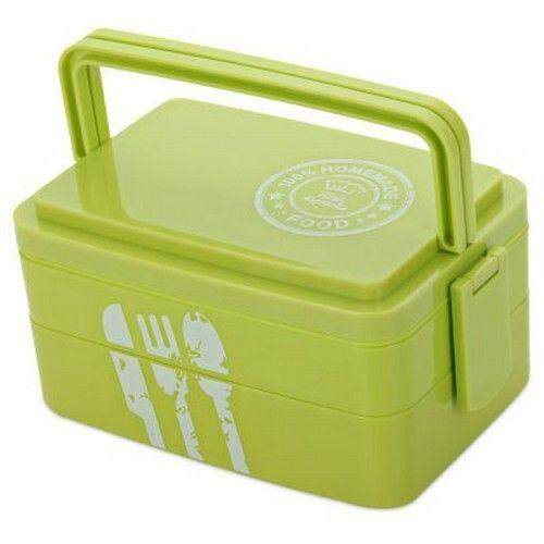 Hình ảnh 3 Layers Lunch Box Microwave Bento Box Japanese Style Lunch Container (GREEN)