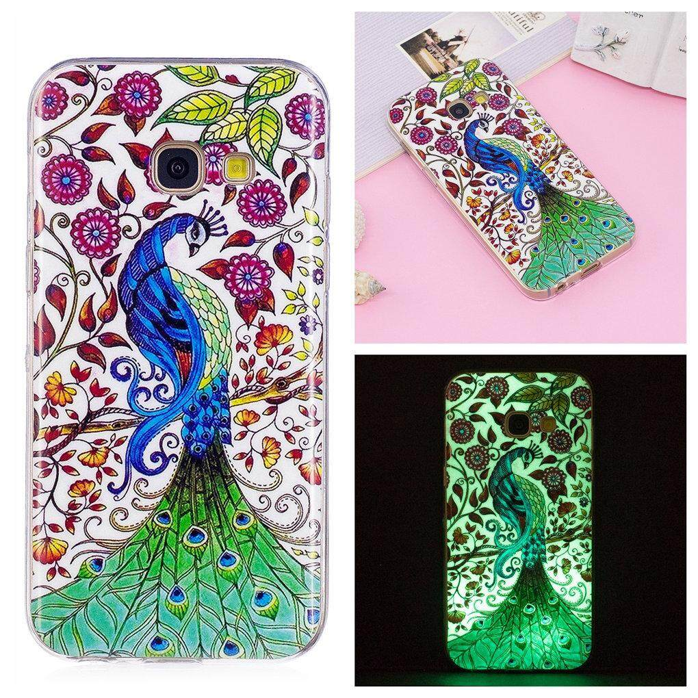Beautiful Pattern Luminous Fluorescent Glow Ultra Thin Soft TPU Gel Silicone Protective Back Case Cover for Samsung Galaxy A5 (2017) SM-A520F (Pattern-19) - intl