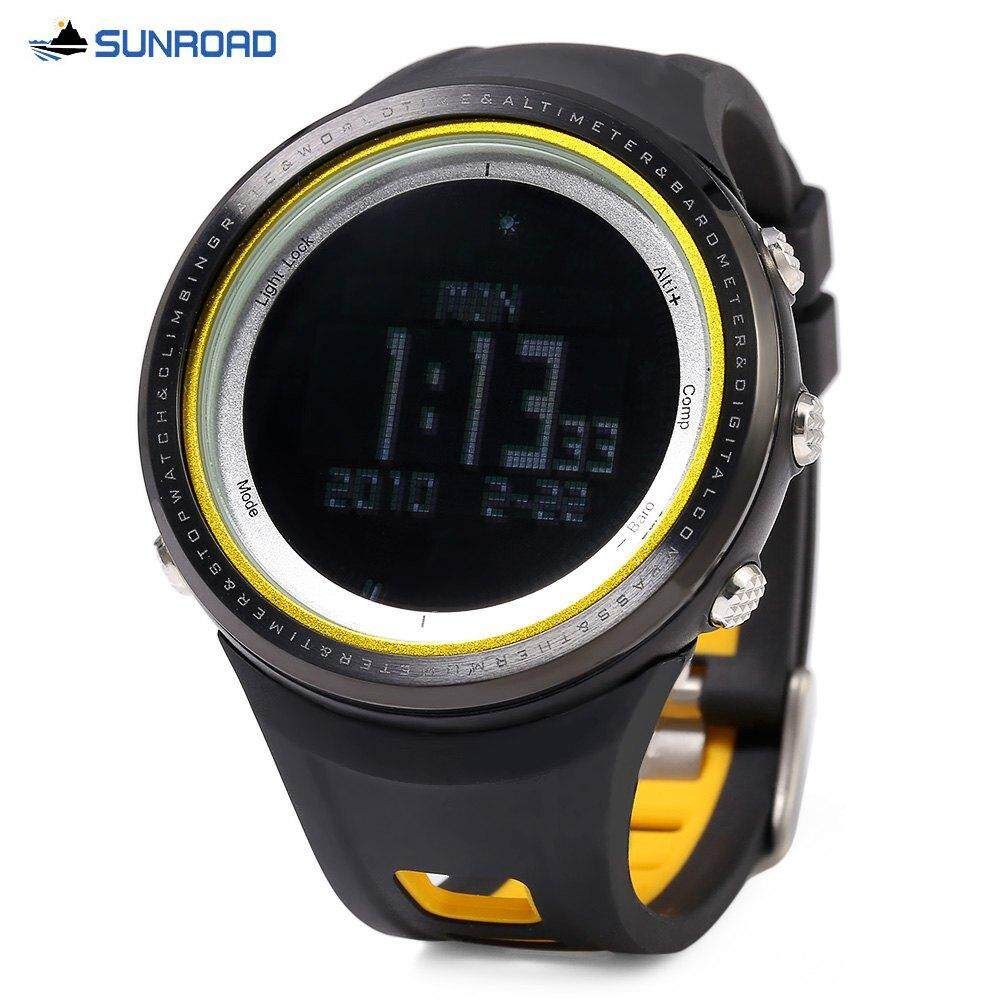SUNROAD FR800NB MULTIFUNCTIONAL DIGITAL SPORTS WATCH (YELLOW)