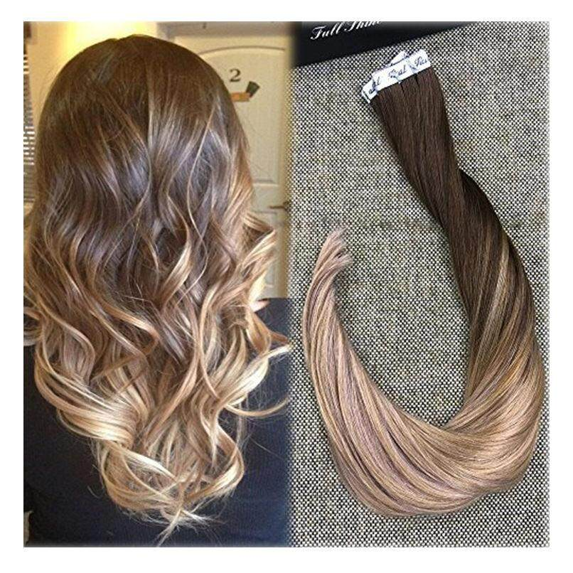 The Cheapest Price Fshine Full Shine 22 Inch Ombre Balayage Tape In