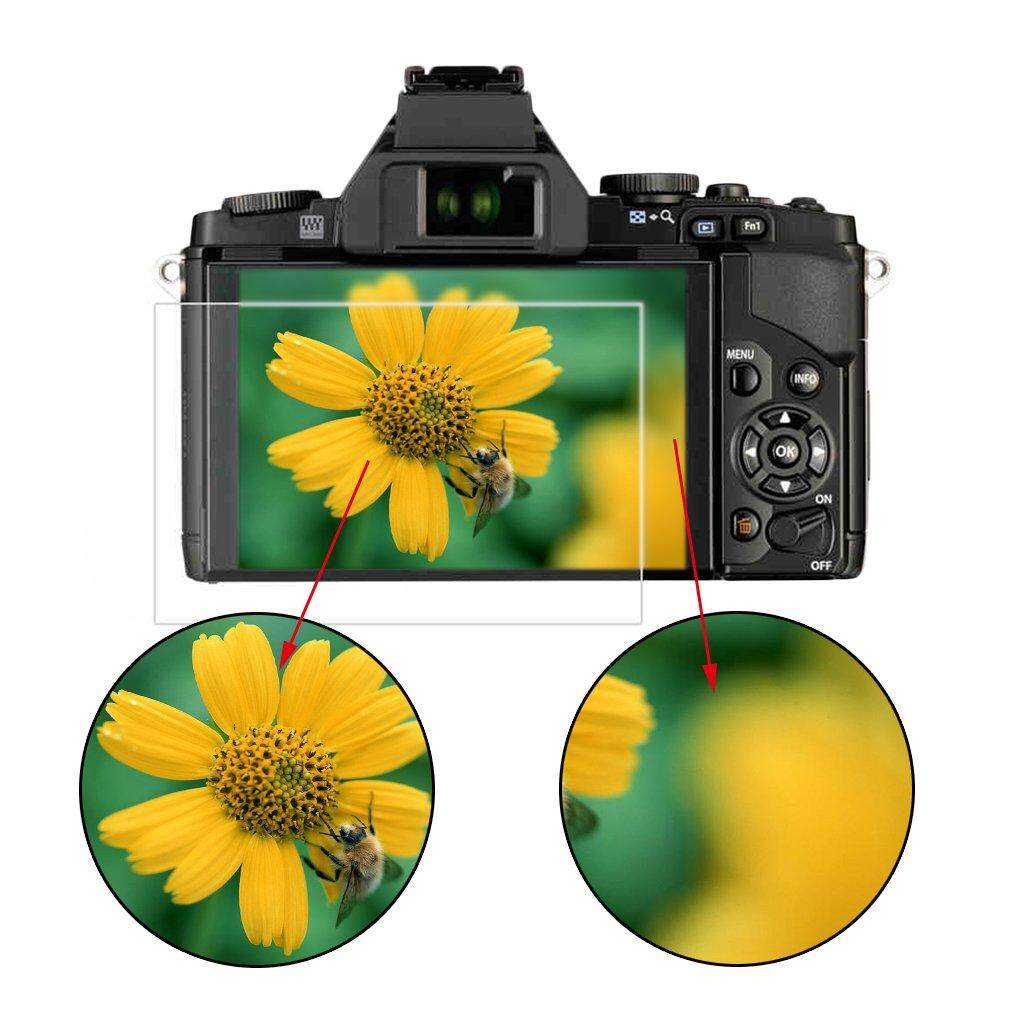 Elec Premium Kaca Antigores Layar Kamera Pelindung HD UNTUK Olympus EM1/EM10/EP5 Jelas