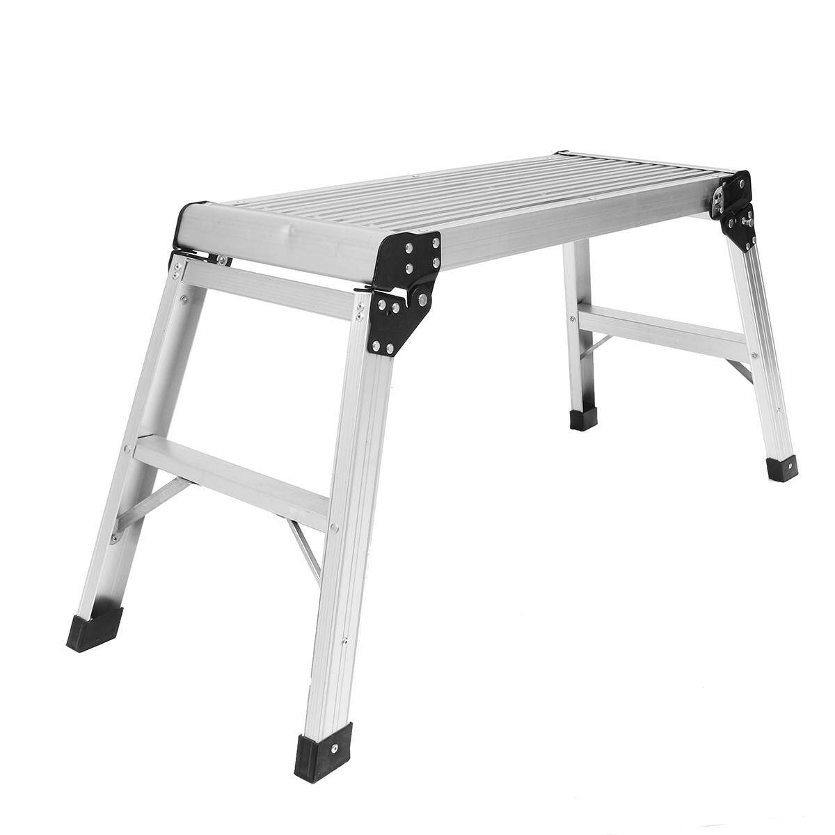 Ladder Work Platform Aluminium Bench Folding Elevated Step Metal Painting Car - intl
