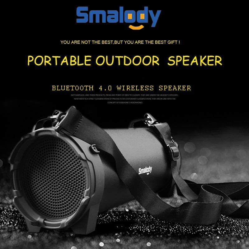 Smalody Wireless Bluetooth Portable Speaker HIFI stereo Soundbar Subwoofer for Climbing Biking Outdoor TF Card Slot
