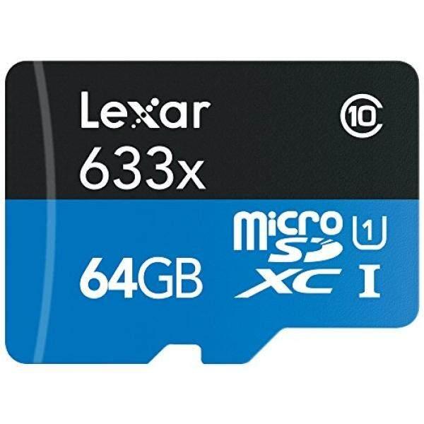 Lexar Kinerja Tinggi Microsdxc 633X64 GB UHS-I Card W/Adaptor SD-LSDMI64GBBNL633A-Intl
