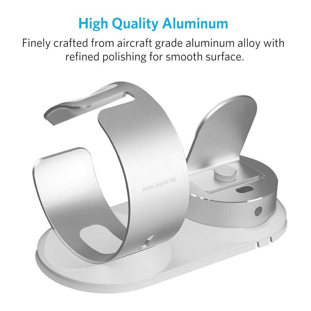 Where To Shop For 5In1 Aluminum Charging Dock Station Stand For Iphone Apple Watch Pencils Airpods Silver Intl