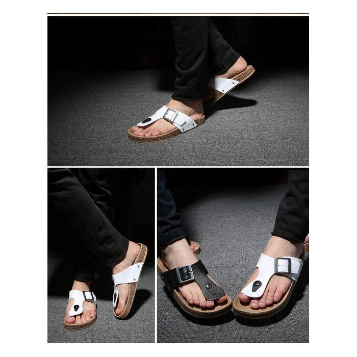 (PRE ORDER 14 DAYS)  Korean Style Men Sandal Collection Women 254-441 (Black) 39