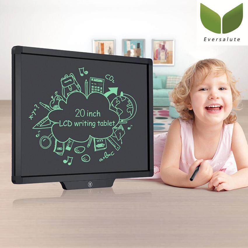 Eversalute LCD Writing Tablet,20-inch Screen Electronic Writing Board Digital Drawing Board Conference display board for Kids and Adults at Home,School and Work Office Or Stores(black)