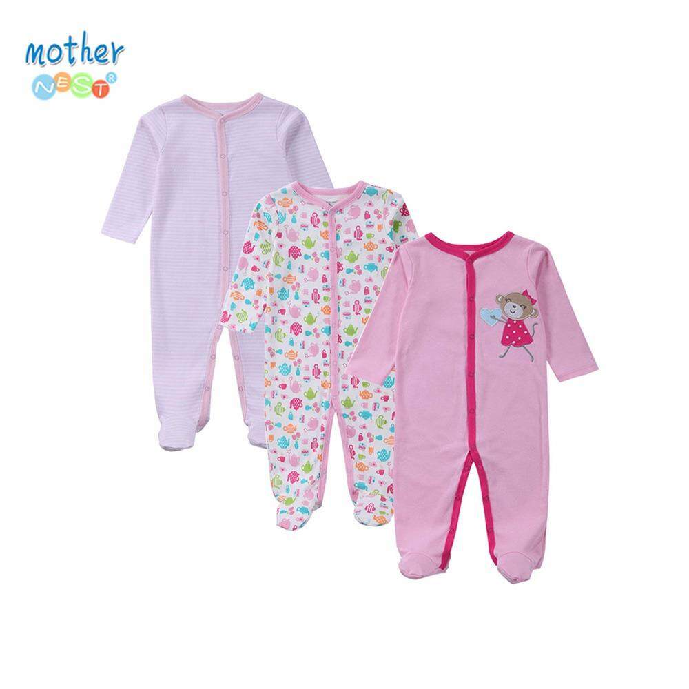3Pcs/Set Romper Brand Baby Girl Sleepsuit Newborn Body Baby Clothes Mother Nest (Mulicolor) - intl