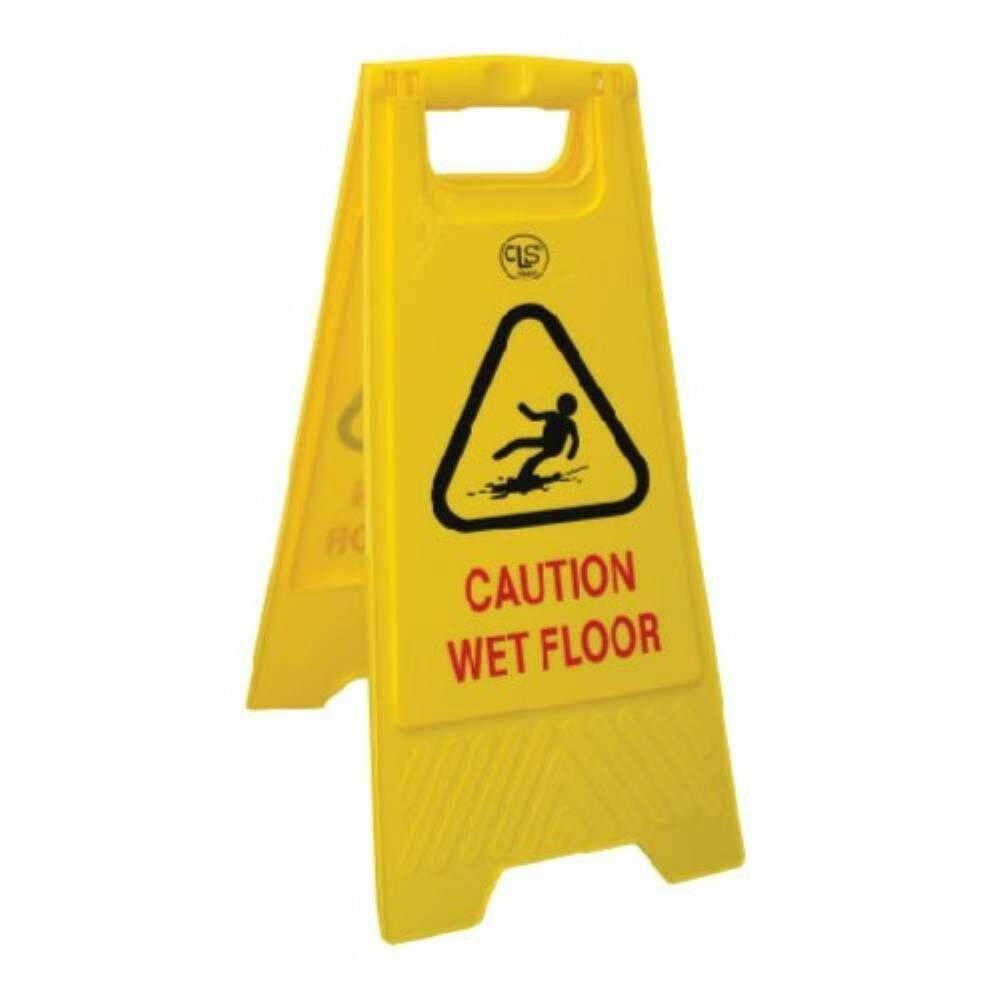 A-Standing Caution Sign / Yellow Foldable Floor Sign Board Stand / Caution Sign Board / Industrial Floor Signage - Caution Wet Floor