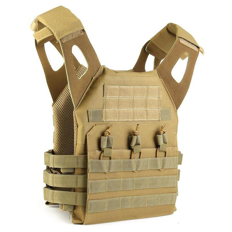 Tactical Lightweight MOLLE Army System Armor Carrier Plate Vest Pouches stock Khaki