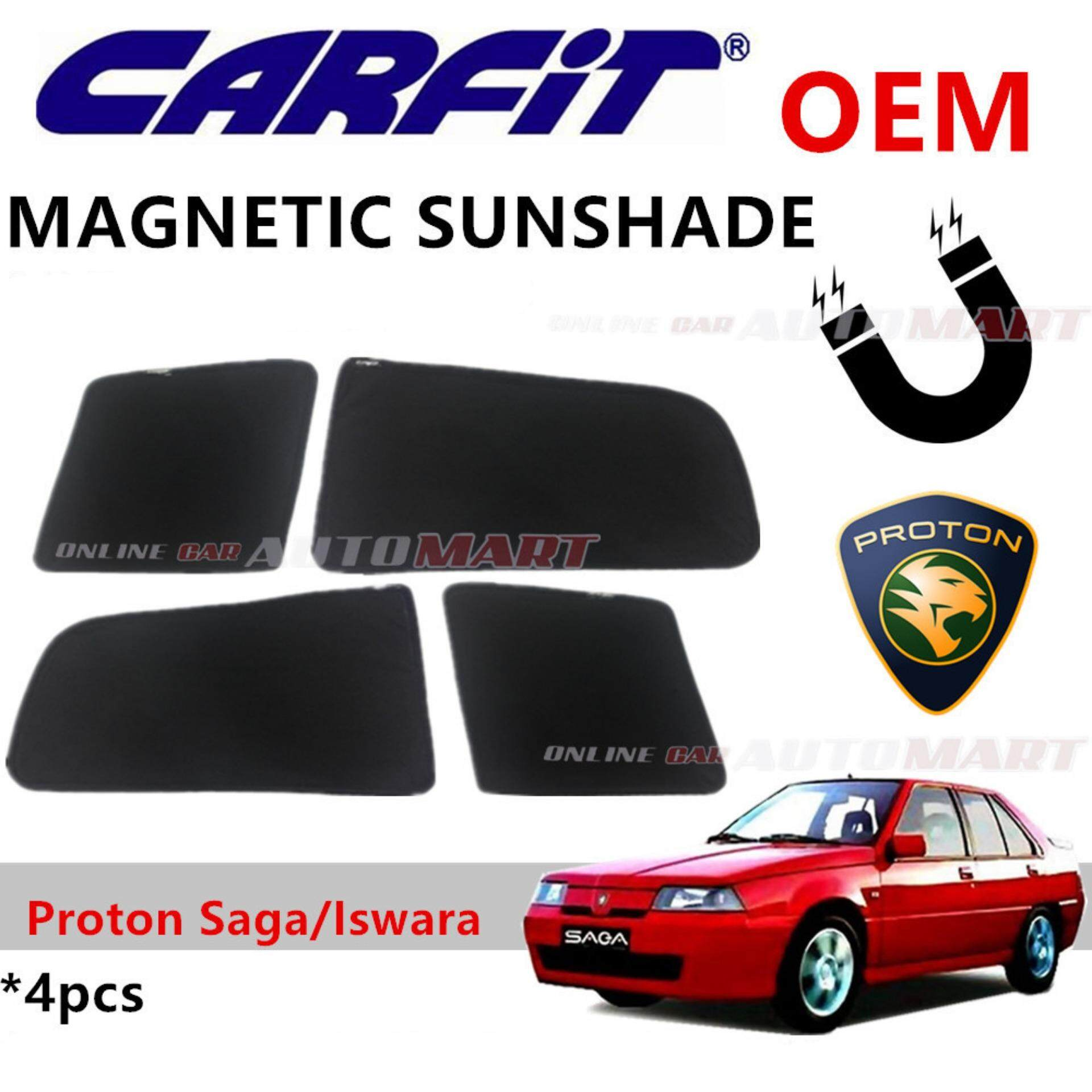 CARFIT OEM Magnetic Custom Fit Sunshade For Proton Saga 2 (4pcs Sets)