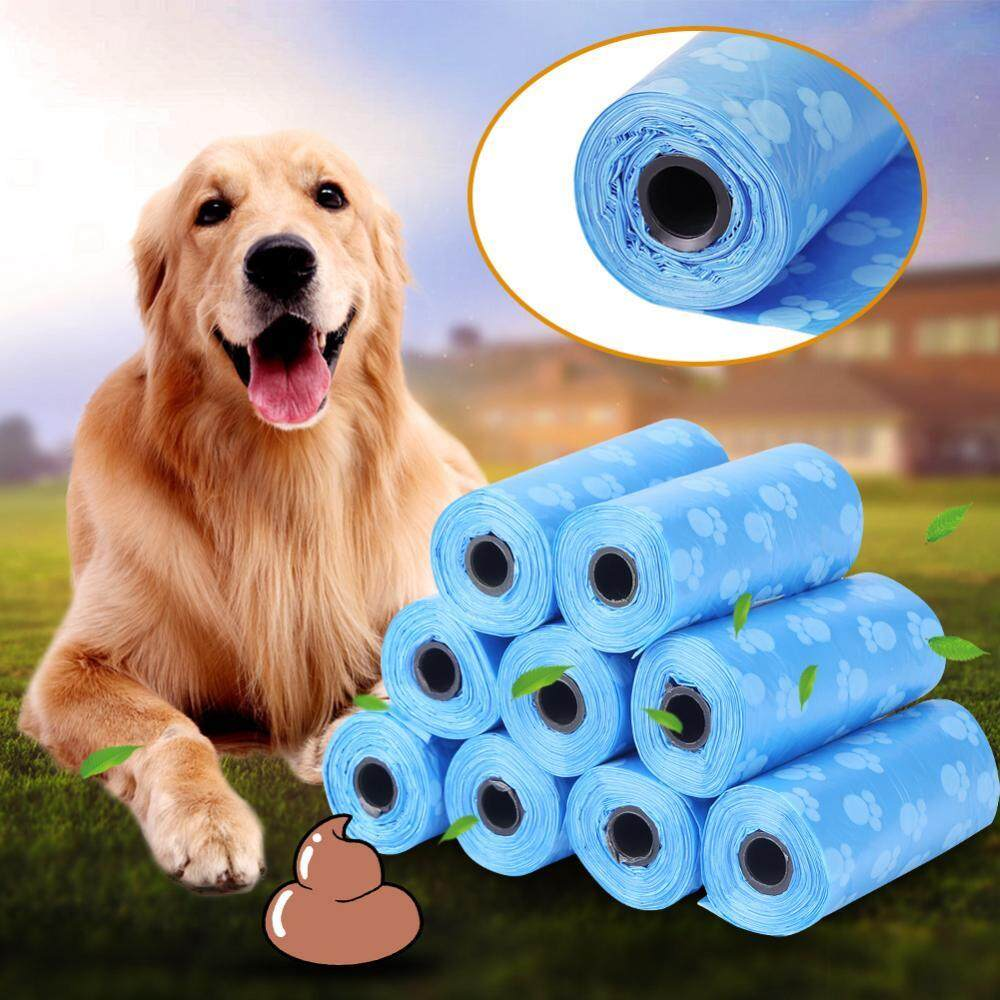 10 Rolls Garbage Clean-Up Paw Bag Pet Dog Cat Waste Poop Pick Up Bag - Intl By Rongshida.