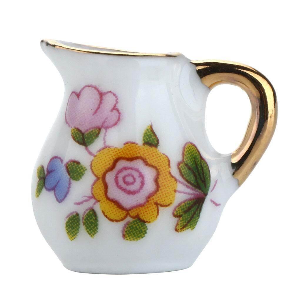 ... Cotton Keramik Teh Mini Set Mainan Teko Cangkir Teh Piring Piring Wadah Susu Toples Gula 1