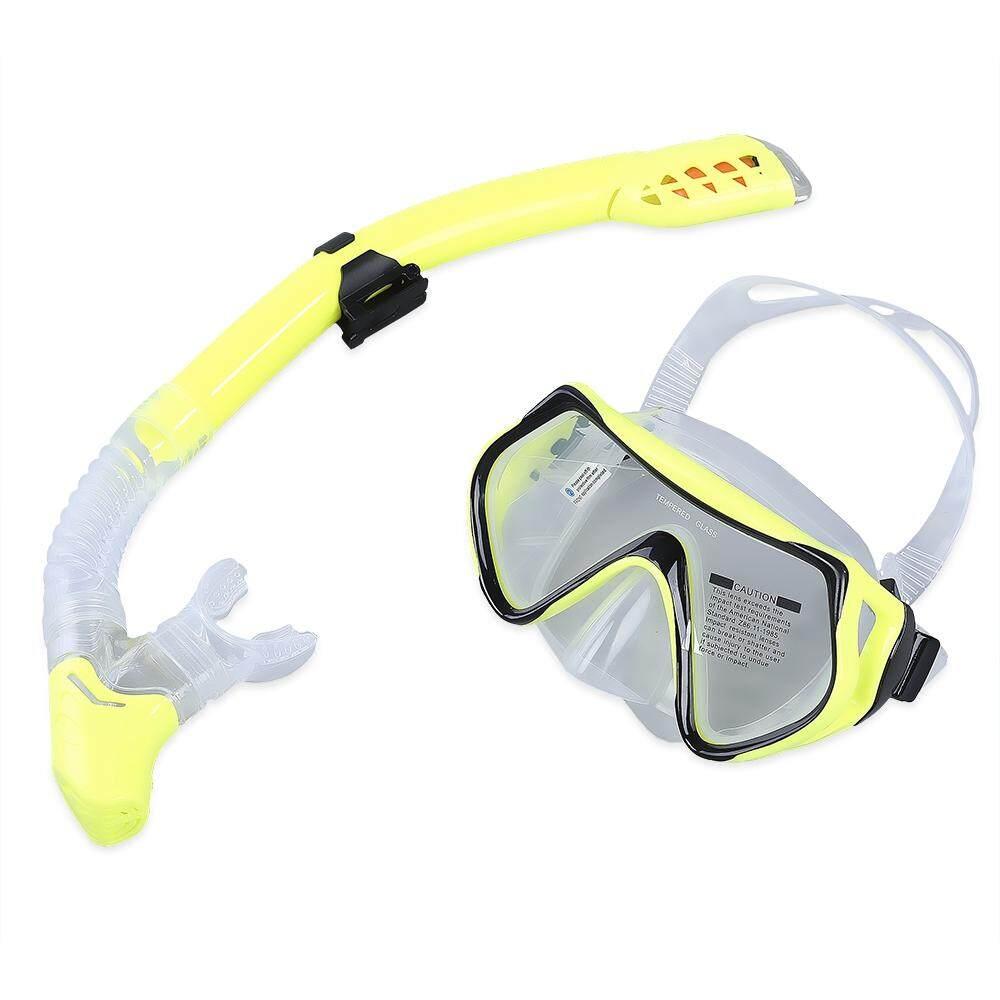 Pelat Wajah Snorkeling Masker Renang Menyelam Scuba Anti-Kabut Kacamata Masker Di Bawah Air Submersible Set Kacamata Kering Snorkeling Hitam Biru merah-Internasional
