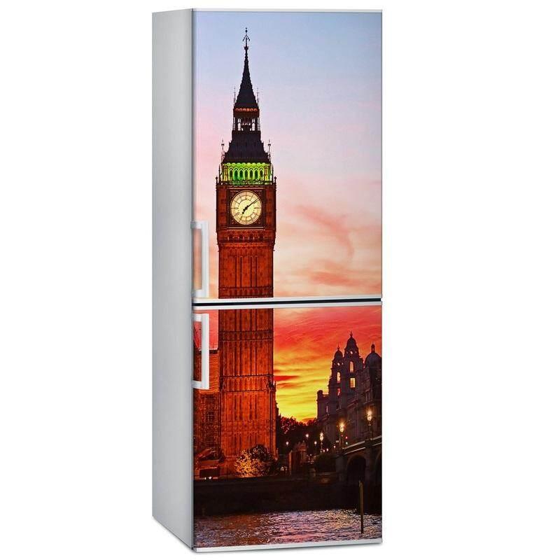 Pengiriman Gratis Diy London Besar Ben Anti-Air Selfadhesive Freeze Kulkas Stiker Pintu Sarung Wallpaper-Internasional