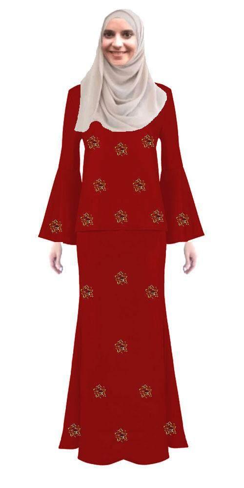 Latest fashion baju kurung Modern for muslimah - Azizah Baju Kurung