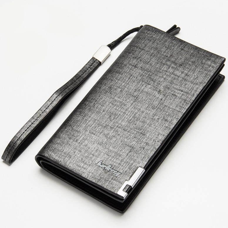 IUNYK Baellerry Men Wallets Fashion Design Long PU leather Long Zipper Coin Purse IU0116 (01style