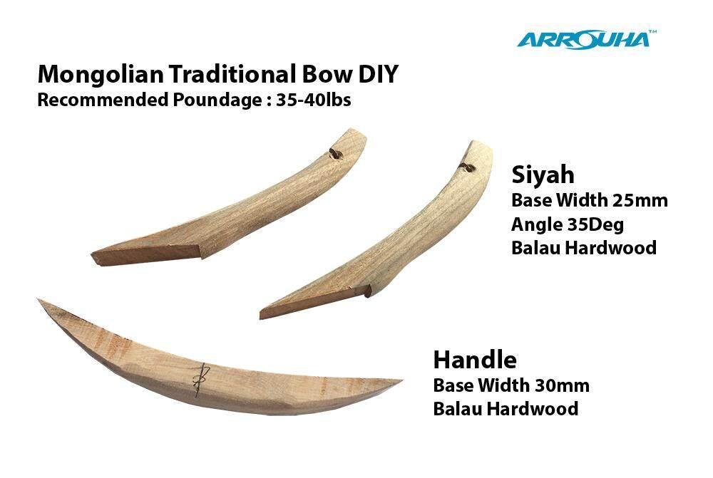 DIY Mongolian Bow Siyah dan Handle for 35-40lbs