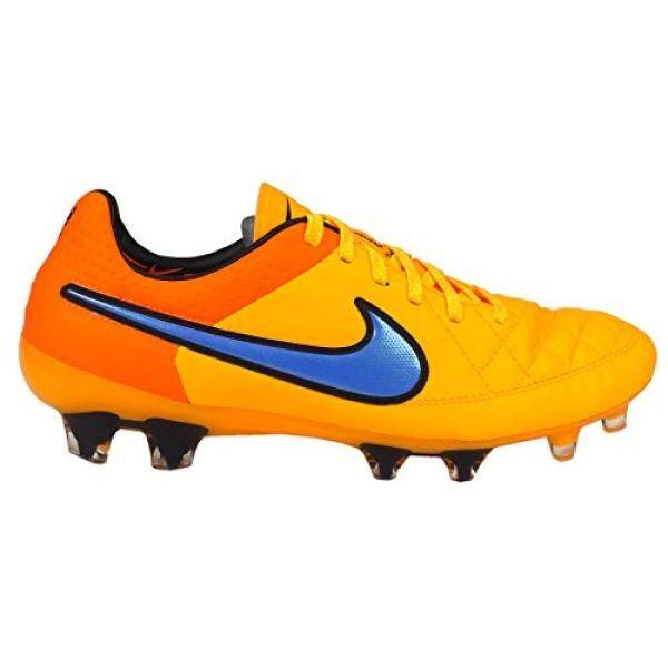 NIKE MENS TIEMPO LEGEND V FG SOCCER CLEATS, COLOR:LASER ORANGE/VOLT/VIOLET, SIZE:9 - intl