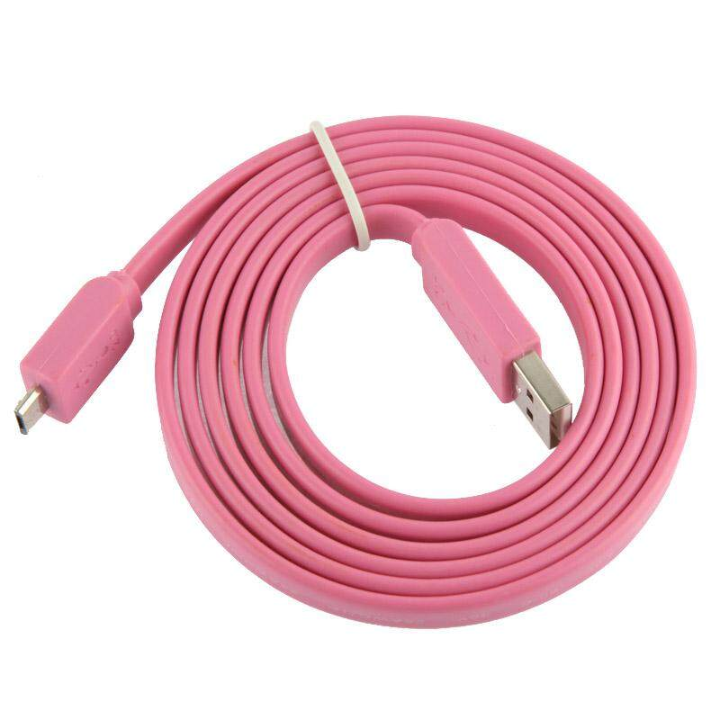 Noodle Style Micro 5 Pin USB Data Transfer / Charge Cable, Suitable for Samsung Galaxy S6 / S IV / i9500, HTC One / M7, Nokia Lumia 925 / 920 / 520, LG Optimus G Pro, Length: 1.5m(Pink) - intl