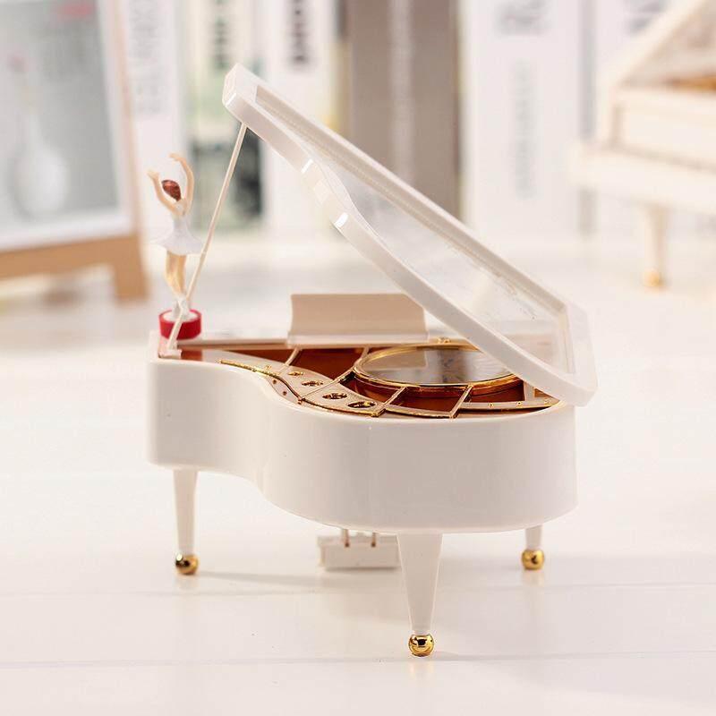 Burstore 15X13 Cm Piano Bentuk Modis Melody Mainkan Kotak Musik Mesin Jam Hadiah Musik untuk Anak-anak-Internasional