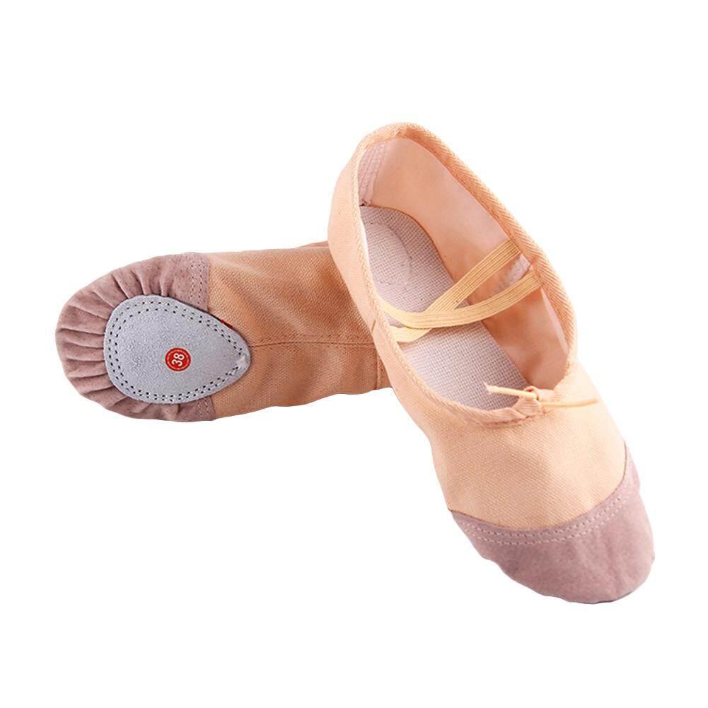 ad24d0ece4e4 DSstyles Ballet Dance Dancing Shoes Pointe Soft Flats Yoga Shoes  Comfortable Breathable Slippers for Children Kids