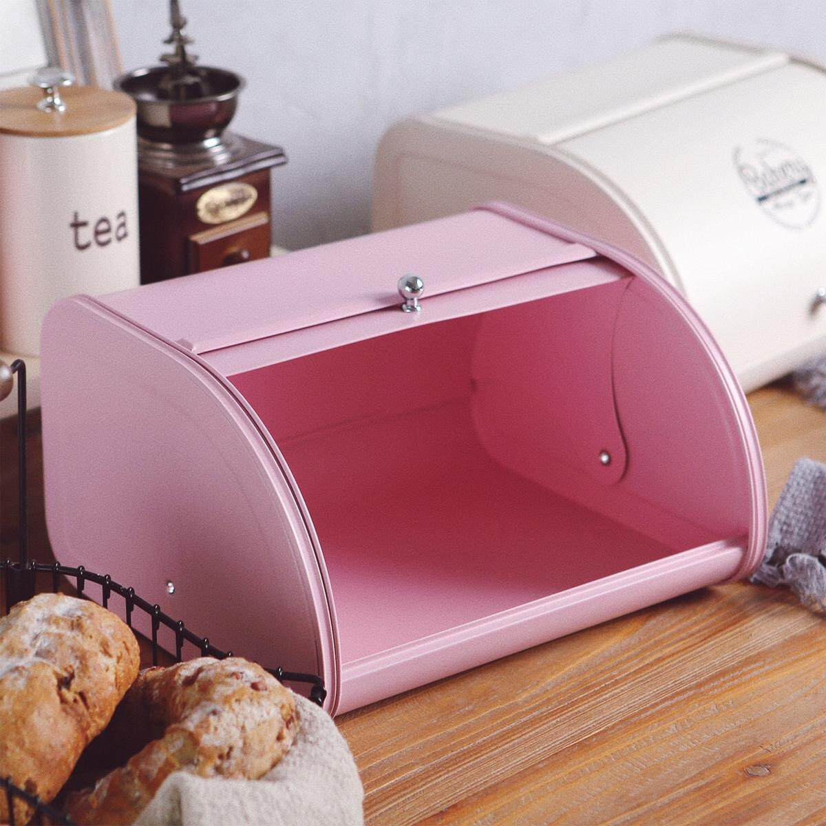 Sale White Pink New Bread Box Storage Bin Keeper Food Pastries Kitchen Container Intl Not Specified Wholesaler