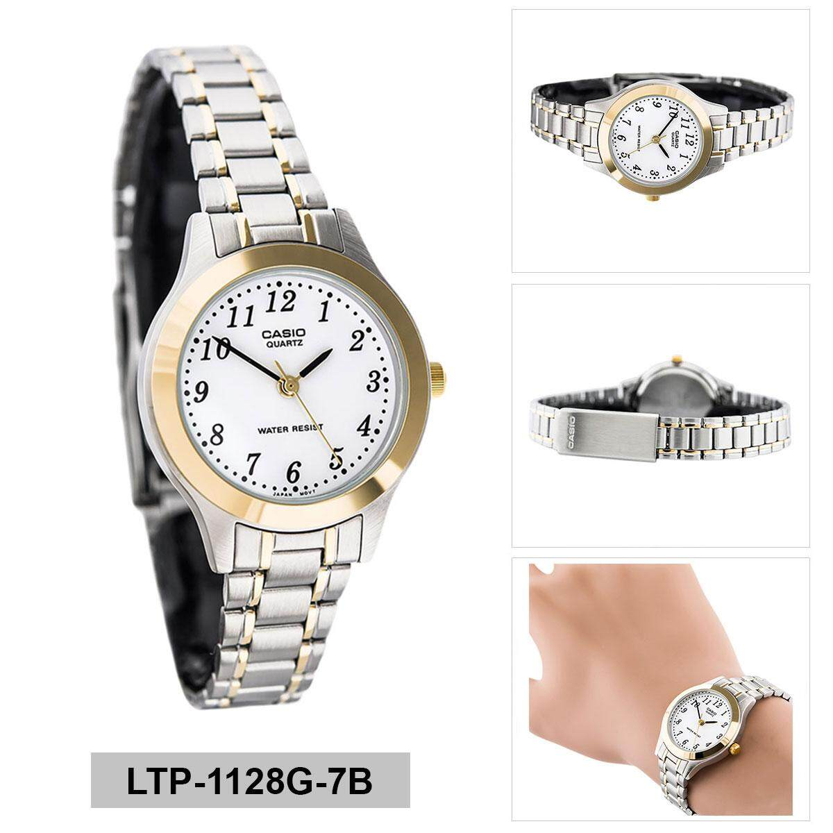 Features Casio Mtp 1141g 7b Men Analog Two Tone Stainless Steel Couple Dan Ltp 1183e 7adf Jam Tangan Black White Strap Leather Watch Standard Multicolored Case Bracelet