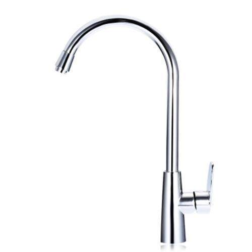 360 DEGREE ONE HOLE SINGLE HANDLE WATER KITCHEN TAP (SILVER)